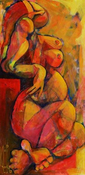 0082-Sitzender-weiblicher-Akt